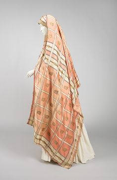 Wedding Veil, Russian, 19th century, silk, metal, cotton