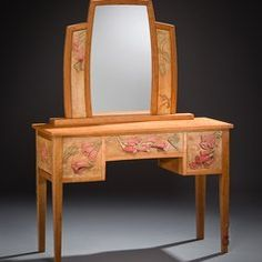 Handmade dressing Table with Dragonflies