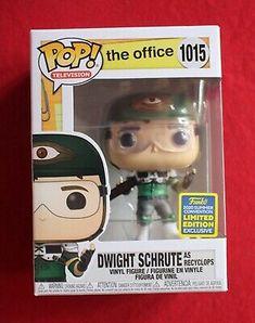 Dwight Schrute Recyclops #1015 Funko Pop! TV The Office SDCC Walmart Shared Excl #affilink #popdolls #funkopop #popdolllot The Office Dwight Schrute, Pop Television, Pop Dolls, San Diego Comic Con, Vinyl Figures, Funko Pop, Walmart, Tv, Ebay