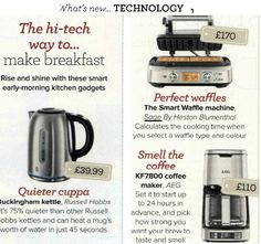 Ideal Home the Smart Waffle Waffle Machine, Heston Blumenthal, How To Make Breakfast, Kitchen Gadgets, Cooking Time, Ideal Home, Sage, Waffles, Ideal House
