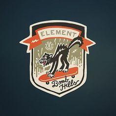 Element Patch by Curtis Jinkins Badge Design, Label Design, Logo Design, Edit Logo, Trademark Logo, Typo Logo, Typography, Great Logos, Retro Logos