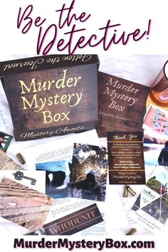 Use the journal and evidence to solve a mystery by mail. One-time mysteries available and shipping is on us. . . . #clue #mystery #murdermystery #detective #investigate #evidence #sovle