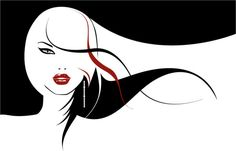 Cartoon Hair Stylist | long hair flowing material keyword girls elegant fashion female hair ...