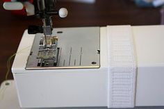 Tip:  Keep a circle of elastic on the sewing arm of your machine as a seam guide.