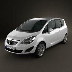 Opel Meriva B 2011 3d model from humster3d.com. Price: $75