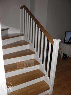 Schody drewniane białe z dębowymi stopniami Świerkle • OLX.pl Stairs, Home Decor, Ideas, Staircases, Stairway, Decoration Home, Room Decor, Home Interior Design, Thoughts