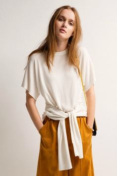 White Tie & Loose T-Shirt