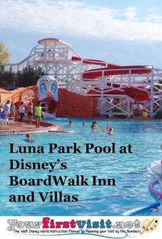Disney World Tips: A Photo Tour and Review of Luna Park Pool at Disney's BoardWalk Inn and Villas from yourfirstvisit.net | #DisneyWorldTips #DisneyWorldResorts #DisneysBoardwalkInn