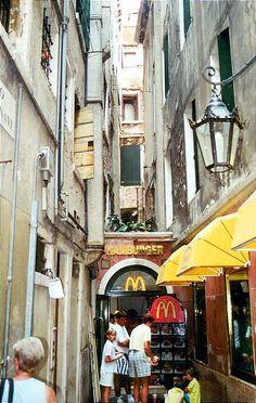 McDonalds restaurant in Venice, Veneto_ Italy