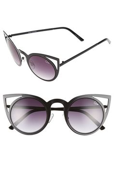 Quay Australia 'Futuristic Kitti' 50mm Cat Eye Sunglasses available at #Nordstrom