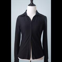 CAbi $159 Black Double Zip Stretch Jacket Size S CAbi $159 Black Long Sleeve Double Zip Stretch Jacket Size Small CAbi Jackets & Coats