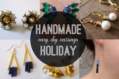 Handmade Holiday: Easy DIY Earrings