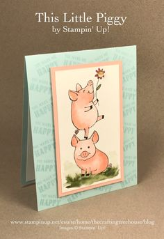 DIY Make n' Take for Team Gathering made with the This Little Piggy Stamp Set by Stampin' Up!