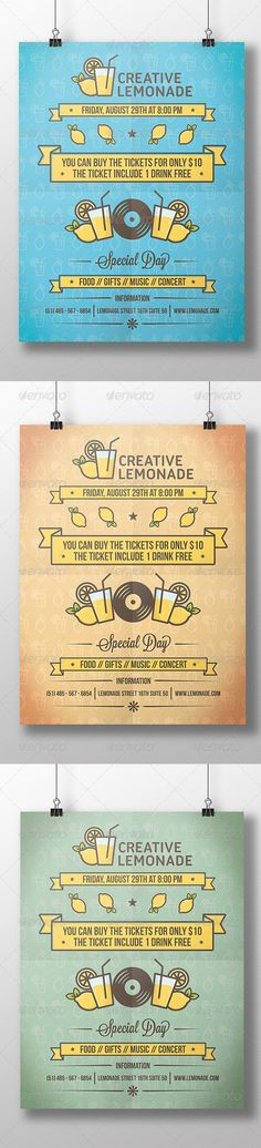 Lemonade Cocktail Party Flyer #long #shot Download : https://graphicriver.net/item/lemonade-cocktail-party-flyer/8612157?ref=pxcr