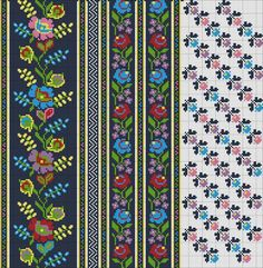 Folk Embroidery, Embroidery Patterns Free, Beading Patterns, Cross Stitch Embroidery, Crochet Patterns, Cross Stitch Borders, Cross Stitch Patterns, Wrist Warmers, Bargello
