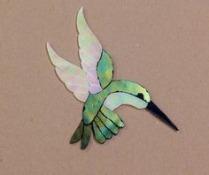 PRECUT STAINED GLASS ART FEMALE HUMMINGBIRD KIT MOSAIC INLAY CRAFT HANDCRAFTED