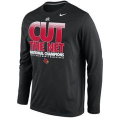 Nike Louisville Cardinals 2013 NCAA Men's Basketball National Champions Locker Room Cut the Net Long Sleeve T-Shirt – Black
