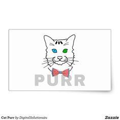 Cat Purr Rectangular Sticker