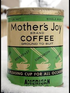 YES a Mothers JOY in the mornings. {love the vintage can}!