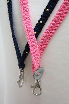 Crochet Patterns Gifts Fancy Lanyard: free crochet pattern by Emma Varnam Love Crochet, Crochet Gifts, Crochet Yarn, Crochet Belt, Crochet Teddy, Chrochet, Crochet Lanyard, Crochet Keychain, Knitting Blogs
