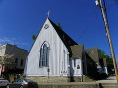 Assension Episcopal Church by J. Stephen Conn, via Flickr | Built around 1878. The wood for the interior was donated by members of the church. The imported stain glass windows were the first memorial stained glass windows in Mt. Sterling. The doors to the church are open 24 hours a day.
