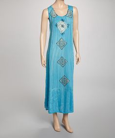 Take a look at this Turquoise Stonewash Maxi Dress by India Boutique on #zulily today! $19.99, regular 109.00