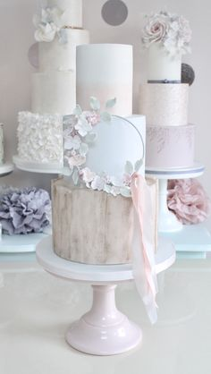 Floral hoop wedding cake by Wish Upon a Cupcake