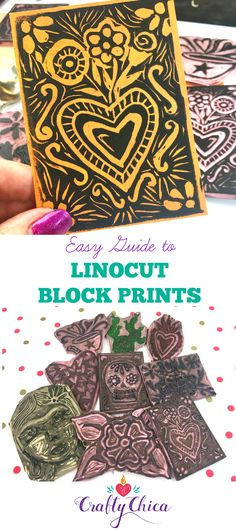 VIDEO: Linocut & Block Printing Tutorial - The Crafty Chica - Ardella Ellaway Linoleum Block Printing, Cricut, Fabric Painting, Encaustic Painting, Chalk Pastels, Kids Prints, Linocut Prints, Book Art, Artist's Book