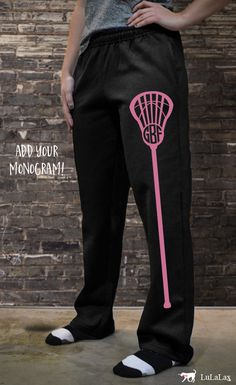 Our cute and cozy #lacrosse sweatpants are perfect for early spring practices, fall ball, or for hanging out with your teammates post practice!