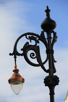 Ornate street lamp, Trafalgar Street  In the style of the famous Gordon Lamp in Montpelier this is in a small back street behind Imperial Square.