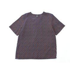 anchors print blouse