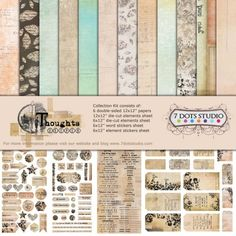 7 Dots Studio -12x12 Collection Kit - Thoughts Keeper