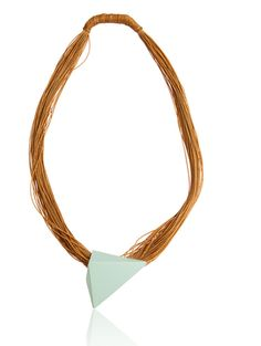 Teal Pyramid Necklace. Click here, http://www.arturbane.com/collections/necklaces/products/teal-pyramid-necklace $305.00 #jewelry #necklace #fashion
