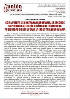 CRÓNICA FERROVIARIA: Venta de chatarra ferroviaria, se esconde la perve...