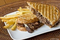 Braised Short Rib Panini.  Someone's going to be sorry they gave me the panini press :p