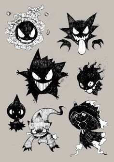 hey whats you favorite pokemon ? ghost type but there are plenty of … ALL of them! Gengar Pokemon, Pokemon Fan Art, Pokemon Noir, Ghost Type Pokemon, Pokemon Sketch, Pokemon Comics, New Pokemon, Pokemon Tattoo, Gengar Tattoo