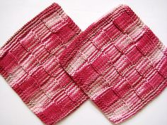 Soft Natural Dish Cloths Hand Knit Red and by CozyKitchenKnits, $7.50