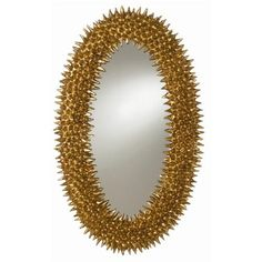 Spore Antiqued Gold Leaf Mirror with Plain Mirror by Arteriors.  I have this mirror and it is awesome!