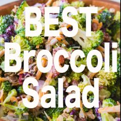 Everyones favorite quick and easy side for our BEST broccoli salad recipe tha. Salad Recipes Everyones favorite quick and easy side for our BEST broccoli salad recipe tha. Brocolli Salad, Best Broccoli Salad Recipe, Easy Broccoli Salad, Best Salad Recipes, Salad Recipes Video, Healthy Recipes, Healthy Salads, Healthy Cooking, Cooking Recipes