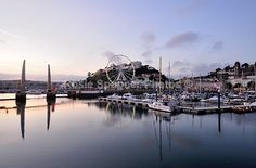 Early evening at Torquay Harbour with the Big Wheel - Greetings Cards
