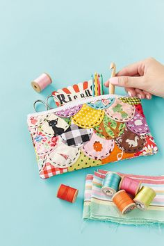 diy scalloped patchwork pencil case - mollie makes 57 Fabric Crafts, Sewing Crafts, Diy Crafts, Hobbies And Crafts, Arts And Crafts, Craft Projects, Sewing Projects, Mollie Makes, Textiles