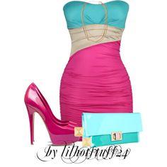 Plus size fashion Pink Dress Outfits, Pretty Outfits, Cute Outfits, Skirt Outfits, Curvy Fashion, Plus Size Fashion, Womens Fashion, Fashion Sets, Women's Fashion Dresses