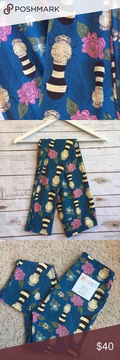 LuLaRoe Bee & Roses Leggings OS LuLaRoe Bees & Roses Leggings OS Signature buttery soft Thank you for looking and please check out the rest of my closet. LuLaRoe Pants Leggings