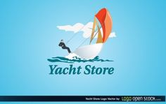 Yacht Store Logo, Vector by Logo Open Stock License: Attribution ID: Art Template, Layout Template, Vector Icons, Vector Art, Boat Illustration, Ship Vector, Vector Design, Graphic Design, Logo Design Inspiration