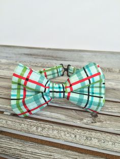 Spring Plaid Baby and Toddler Boys Bow Tie by LuluandDru on Etsy
