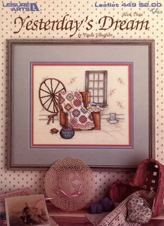 Yesterday's Dream cross stitch pattern by Paula Vaughan - Leisure Arts Leaflet 449 | Craft Book by breezysbooks on Etsy