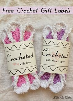 Little Miss Stitcher: Free Crochet Gift Label