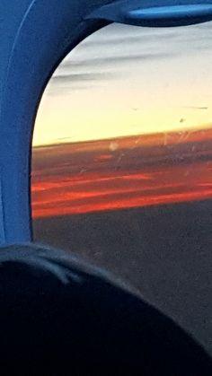 Rückflug nach Süddeutschland in den Sonnenuntergang...