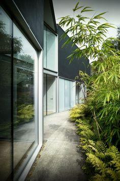 Folding House by Architects Dublin Architecture Images, Landscape Architecture, Interior Architecture, Landscape Design, Garden Design, Residential Interior Design, Residential Architecture, Folding House, Gardens