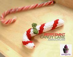 "free pattern : Peppermint Candy Cane Amigurumi by ""amiguria"""